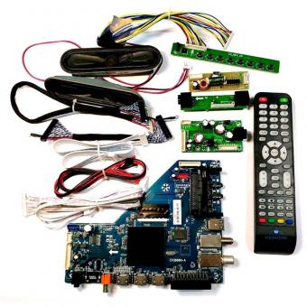 LED TV CKD Kits OEM ODM Design Mainboard Remote LVDS Keyboard IR